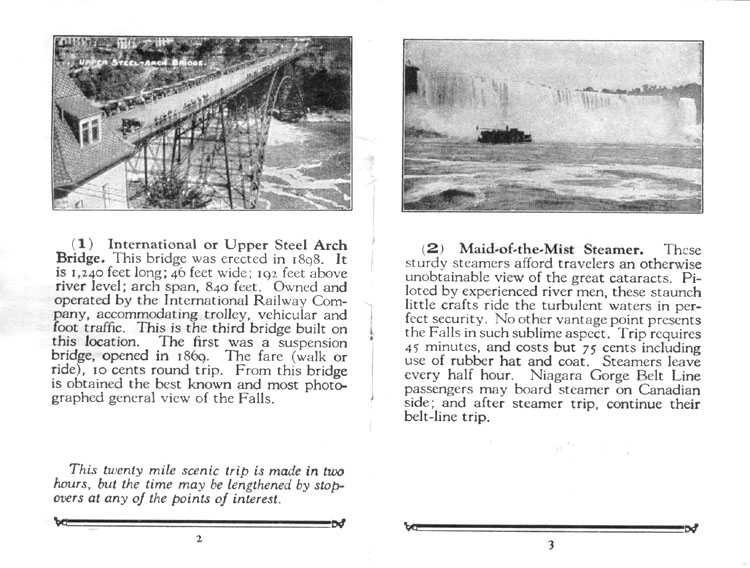 Niagara Gorge Belt Line Brochure Pages 2 and 3